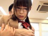 Schoolgirl Natsumi Katoh gets her glasses covered in cum picture 8