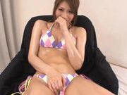 Sexy Sana in bikini masturbation session