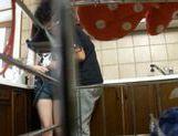 Horny Harumi Asano hardcore group sex! picture 11