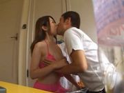 Hot Japanese girl gets her hairy pussy licked