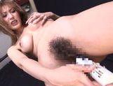 Shinju Murasaki Stuffs A Vibrator In Her MILF Pussy picture 11