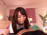 Riding Teen Yui Fujishima Rides His Face And His Cock To Orgasm