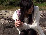 Sweet Nana Ogura Asian teen in black stockings cock sucking  picture 14