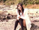 Sweet Nana Ogura Asian teen in black stockings cock sucking  picture 7