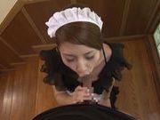 Risa Mizuki Asian babe gives an amazing blowjob