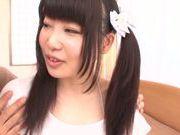 Cute Japanese teen Rino Yoshihara enjoys a good fuck