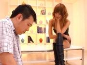 Kirara Asuka Asian lovely in lingerie rides on cock