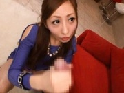 Erena Aihara Asian doll gives amazing blowjob