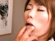Miho Imamura Asian model shows off her round ass