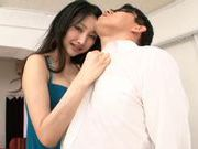 Azumi Mizushima's mouth gets busy on a masked guy