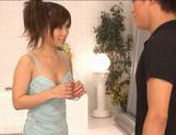 Asian perverts making out and hardcore fucking in the bathroom picture 1
