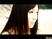 Busty babe Nana Ogura naked at a beach!
