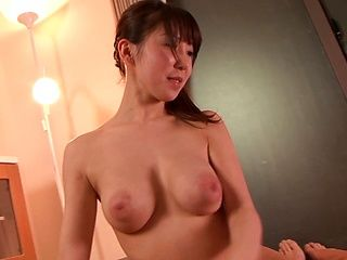Frisky Japanese housewife Chibana Meisa covers muff with jizz