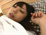 Sexy Yuria Ayane gets cum on her face! picture 9
