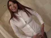 Yuri Sakano Gives A Great Footjob With Pantyhose On