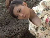 Rin Sakuragi gets cum in her mouth after hot sex! picture 7
