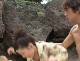 Rin Sakuragi gets cum in her mouth after hot sex! picture 8