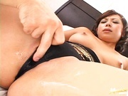 Japanese babe swallows every last drop of cum!