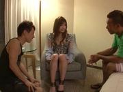Two Guys Make Suzuka Miura Happy With A Threesome Fucking