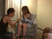 Two Guys Make Suzuka Miura Happy With A Threesome Fucking