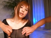 Kokomi Naruse in a Bodysuit in a Threesome