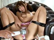 Hitomi Kitagawa hot busty Asian chick gets her pussy drilledasian chicks, asian wet pussy}