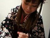 Fucking Shizuku Hasegawa in her kimono with sexy creampied pussy end picture 12