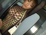 Yuu Kinoshi dressed with transparent lingerie fucks in the subway picture 3