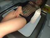Yuu Kinoshi dressed with transparent lingerie fucks in the subway picture 5