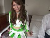 Lovely Asian model in cheerleader outfit hot Race Queen picture 10