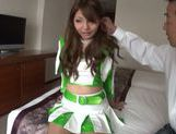 Lovely Asian model in cheerleader outfit hot Race Queen picture 14