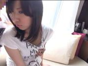 Japanese AV Model amazing teen in amateur cock sucking