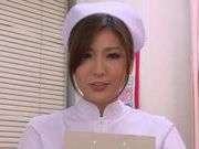 Cock hungry MILF nurse Yuna Shiina sucks dick in POV
