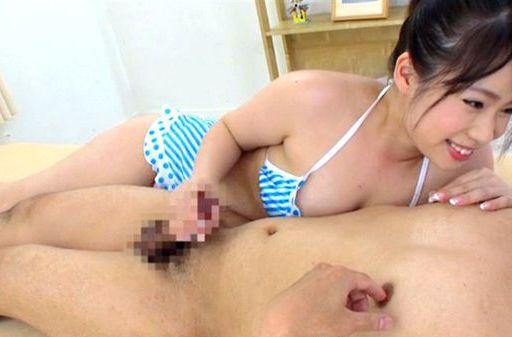 Sweet looking An Shinohara in mini bikini gets tit fuck