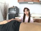 Nurse Ria shows off her skilled hands with a POV handjob picture 4