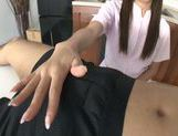 Nurse Ria shows off her skilled hands with a POV handjob