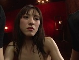 Luscious Japanese milf  Kanako Iioka gives a double blowjob on close-uphot asian pussy, asian babe}