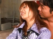 Big tits on Akina Ishiki Bounce As She's Drilled