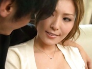 MILF In Schoolgirl Outfit Blows And Jerks Him Off