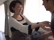 Japanese milf loves spreading her legs for cock