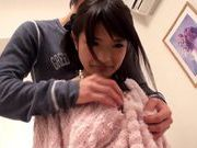 Nice Asian teen in pink lingerie Ruri Nanasawa sucks cocks