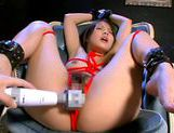 Miku Asaoka tied up and fucked by a vibrator!