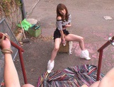 MILF Tsubomi Rides A Dick In Public In A POV Sex Video picture 1