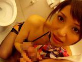 Yuuna Takizawa hot blowjob in the bathroom picture 8