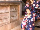 Gorgeous Akina Strips Out Of Her Silky Kimono picture 1