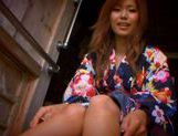 Gorgeous Akina Strips Out Of Her Silky Kimono picture 4