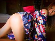 Gorgeous Akina Strips Out Of Her Silky Kimonohorny asian, asian babe}