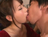 Tasty cum in mouth of horny babe Mayu Kamiya picture 3