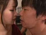 Tasty cum in mouth of horny babe Mayu Kamiya picture 5