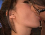 Tasty cum in mouth of horny babe Mayu Kamiya picture 7